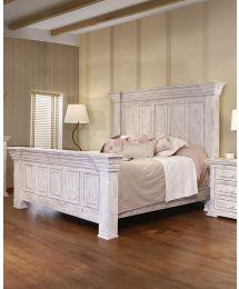 Tara White Bed Set - King